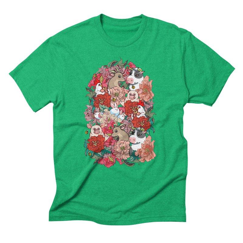 Because Vegan Men's Triblend T-Shirt by huebucket's Artist Shop