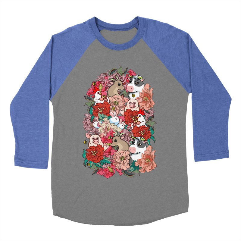 Because Vegan Women's Baseball Triblend Longsleeve T-Shirt by huebucket's Artist Shop