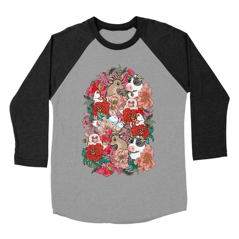 Because Vegan Women's Baseball Triblend Longsleeve T-Shirt by huebucket's Artist Shop
