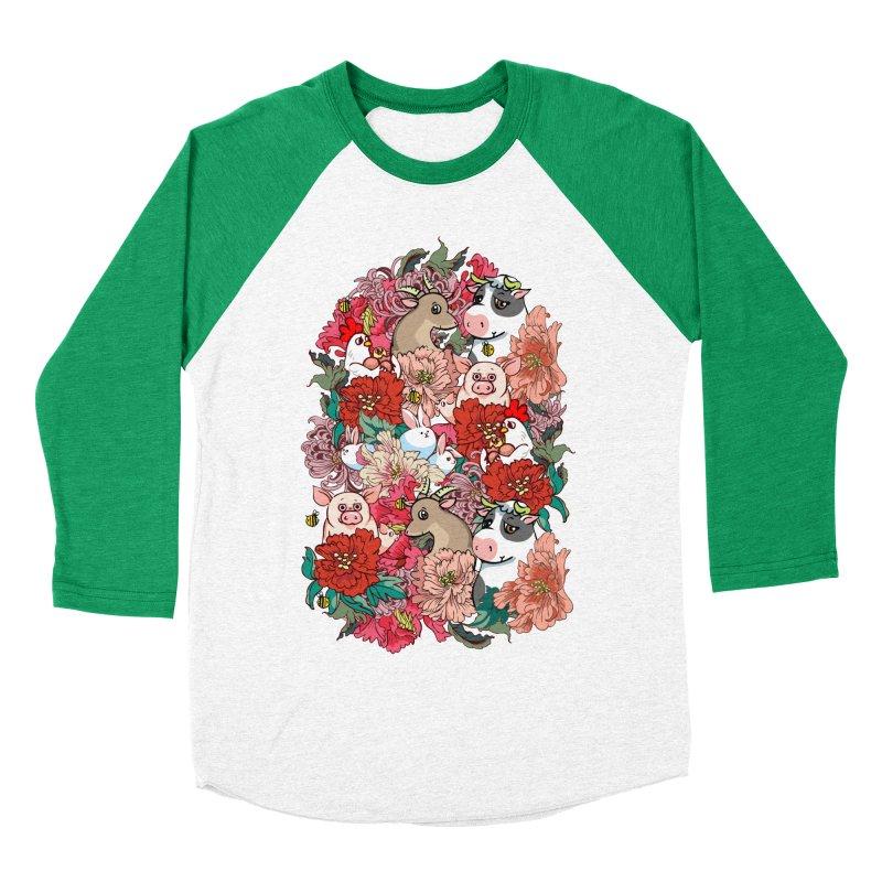 Because Vegan Men's Baseball Triblend Longsleeve T-Shirt by huebucket's Artist Shop