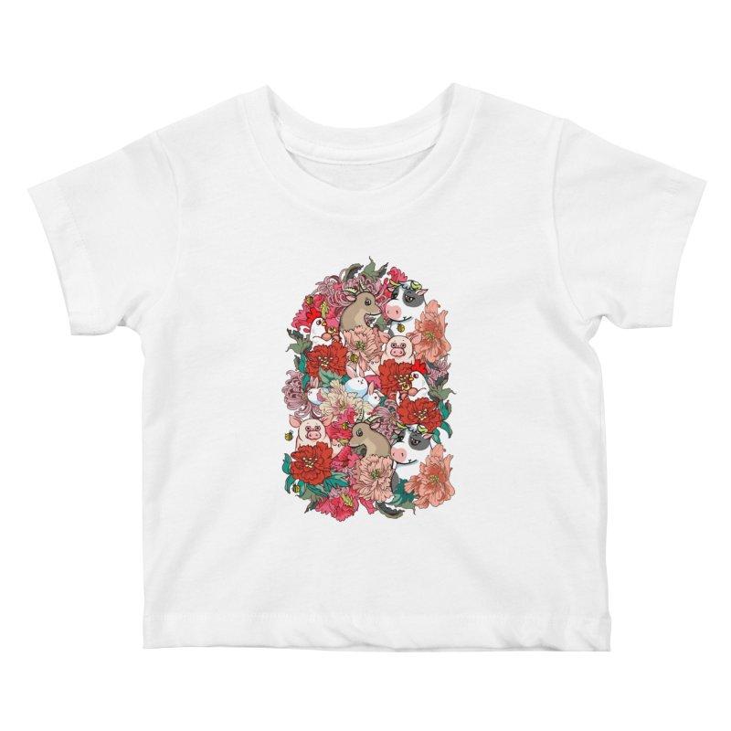Because Vegan Kids Baby T-Shirt by huebucket's Artist Shop