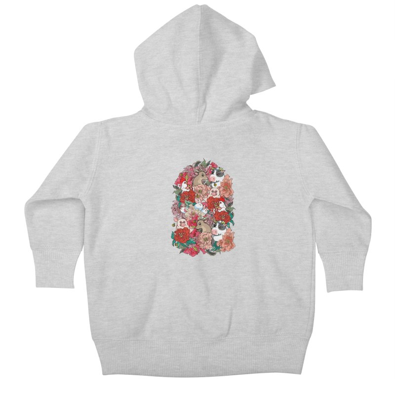 Because Vegan Kids Baby Zip-Up Hoody by huebucket's Artist Shop