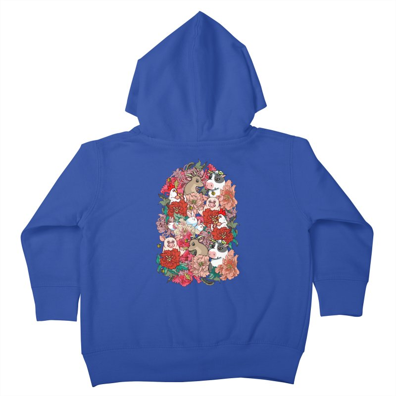 Because Vegan Kids Toddler Zip-Up Hoody by huebucket's Artist Shop