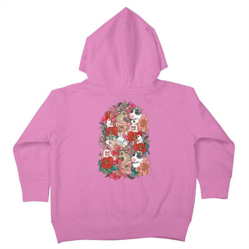 Because Vegan Kids Toddler Zip-Up Hoody by huebucket's Artist Shop