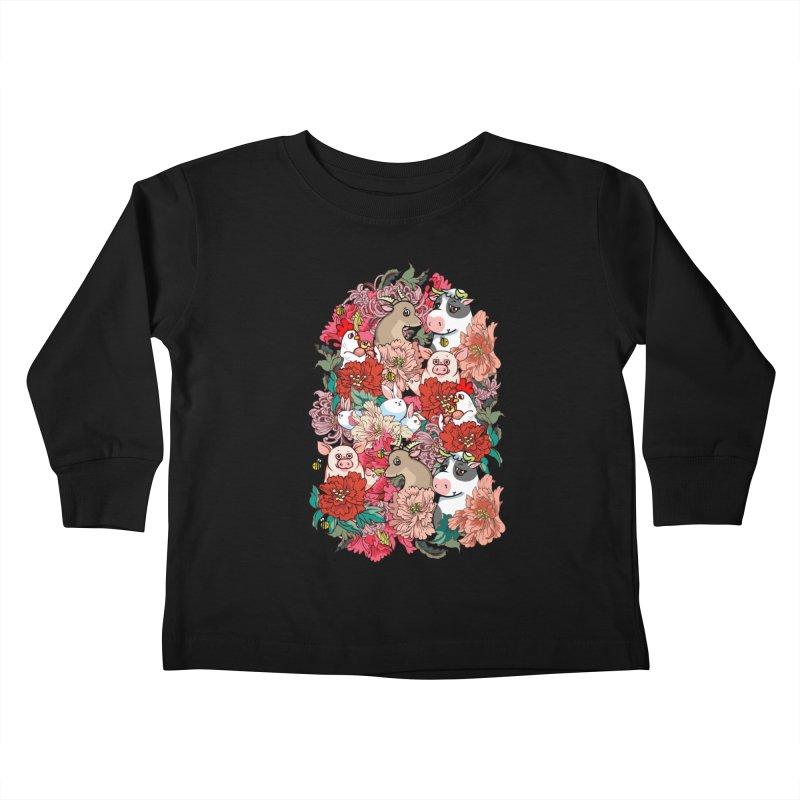 Because Vegan Kids Toddler Longsleeve T-Shirt by huebucket's Artist Shop