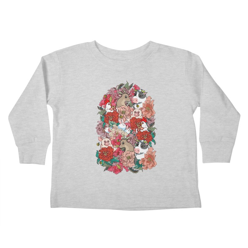 Because Vegan Kids Toddler Longsleeve T-Shirt by huebucket's Artist Shop