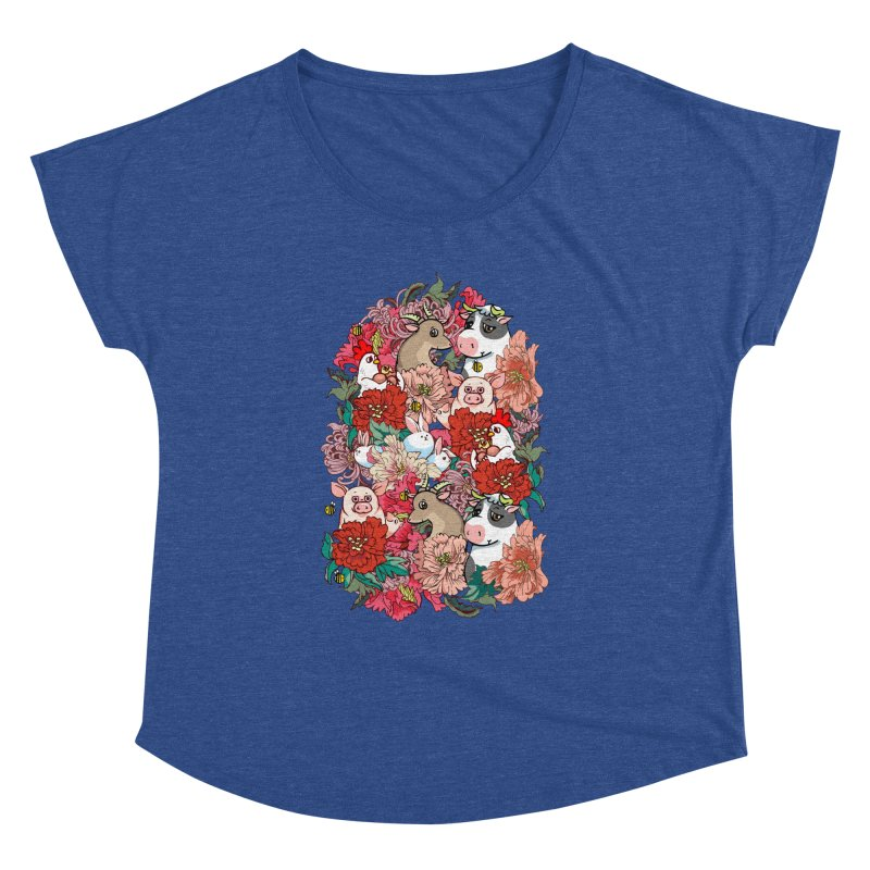 Because Vegan Women's Dolman Scoop Neck by huebucket's Artist Shop