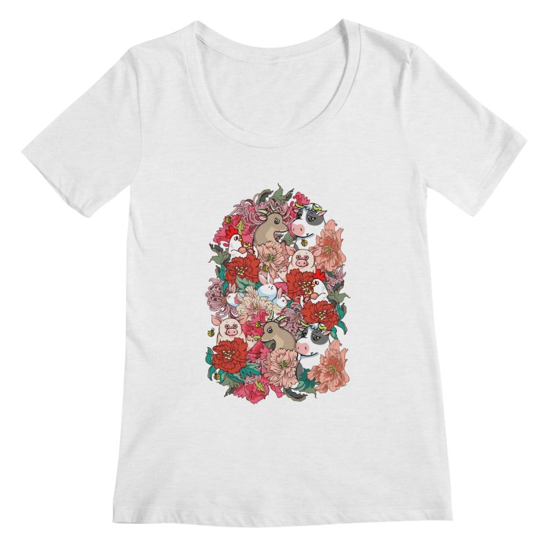 Because Vegan Women's Regular Scoop Neck by huebucket's Artist Shop