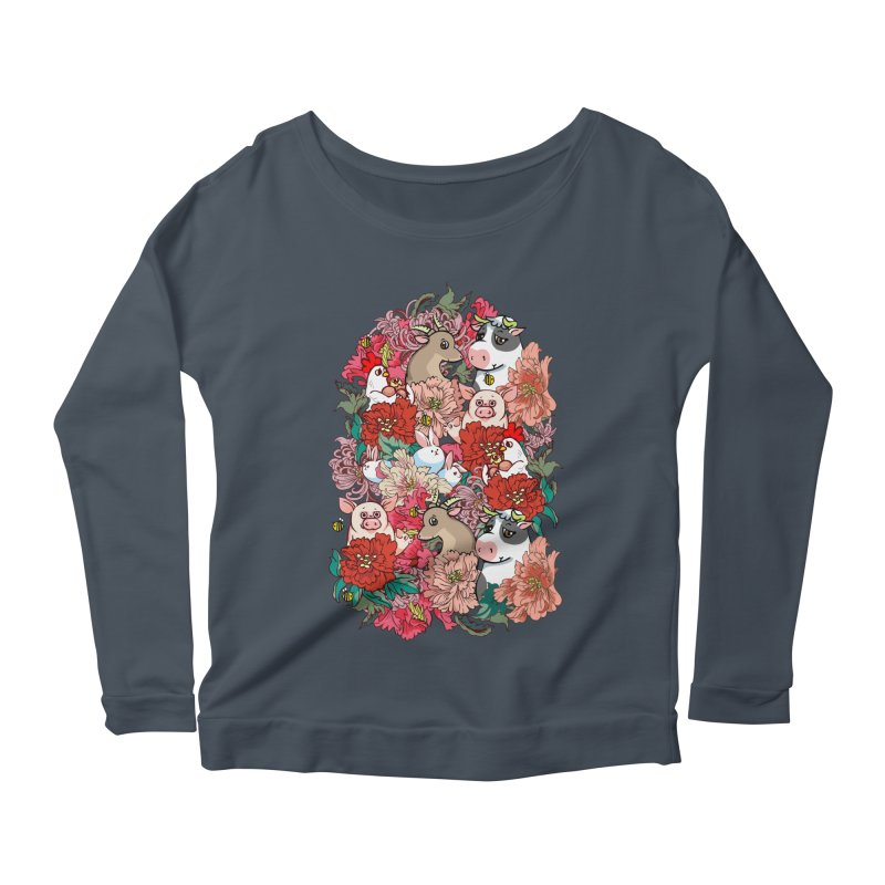 Because Vegan Women's Scoop Neck Longsleeve T-Shirt by huebucket's Artist Shop