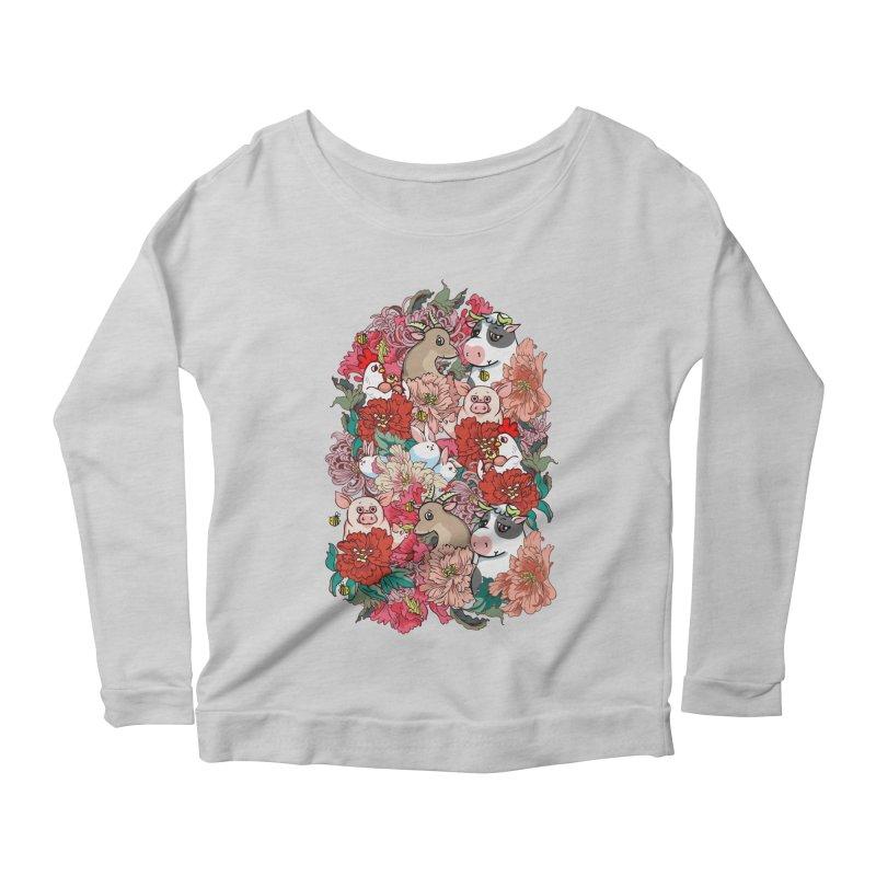 Because Vegan Women's Scoop Neck Longsleeve T-Shirt by huebucket's Artist Shop