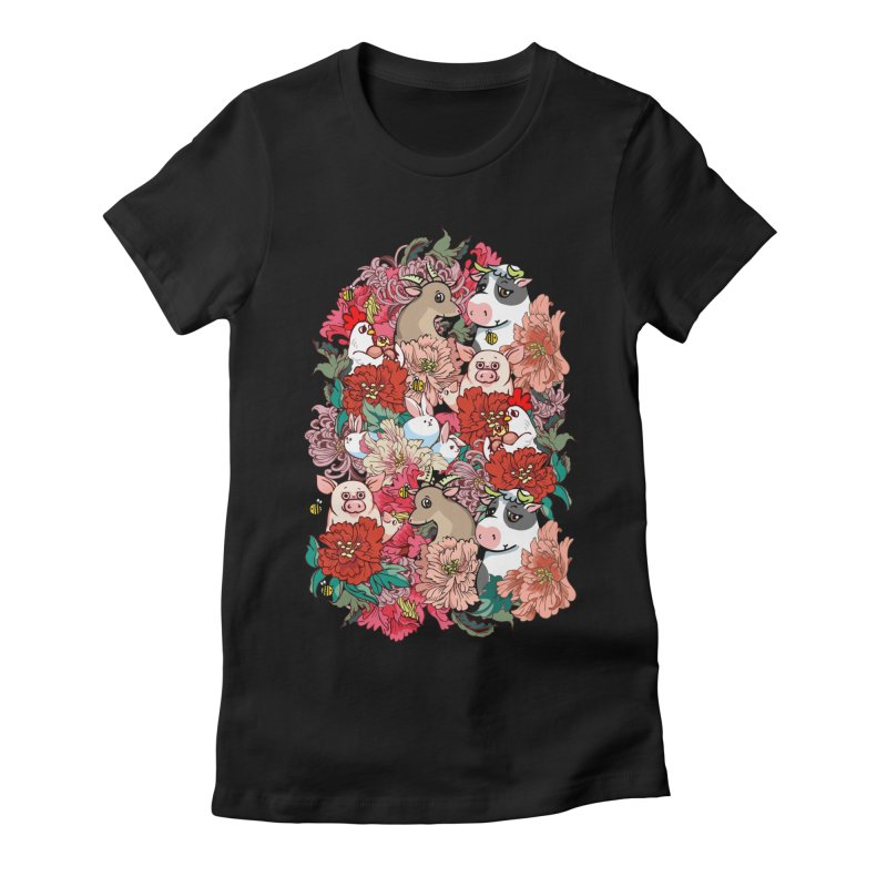 Because Vegan Women's Fitted T-Shirt by huebucket's Artist Shop