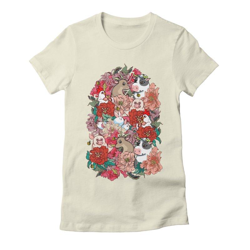Because Vegan Women's Fitted T-Shirt by huebucket's Artist Shop