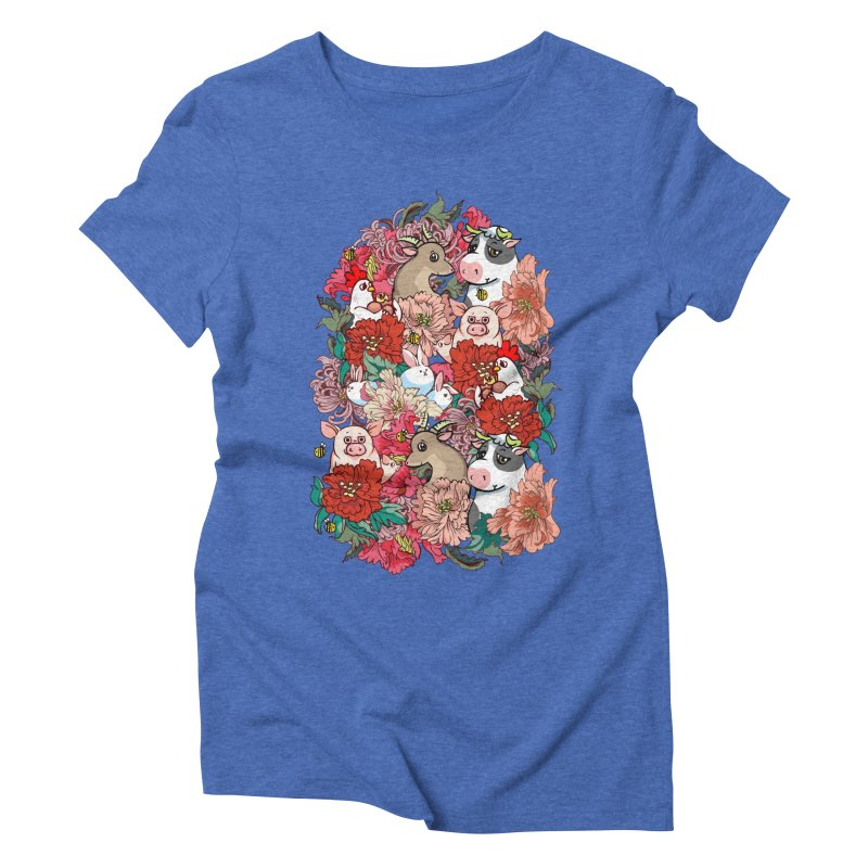 Because Vegan Women's Triblend T-Shirt by huebucket's Artist Shop