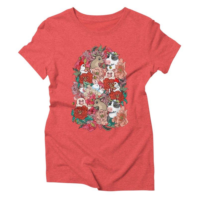 Because Vegan Women's Triblend T-Shirt by huebucket's Artist Shop