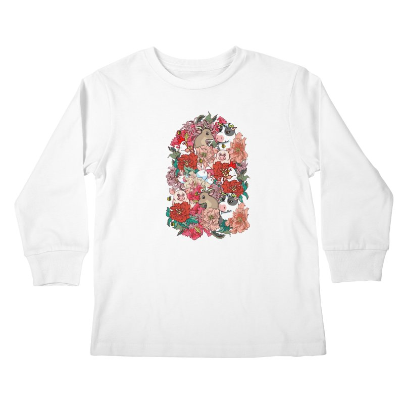Because Vegan Kids Longsleeve T-Shirt by huebucket's Artist Shop