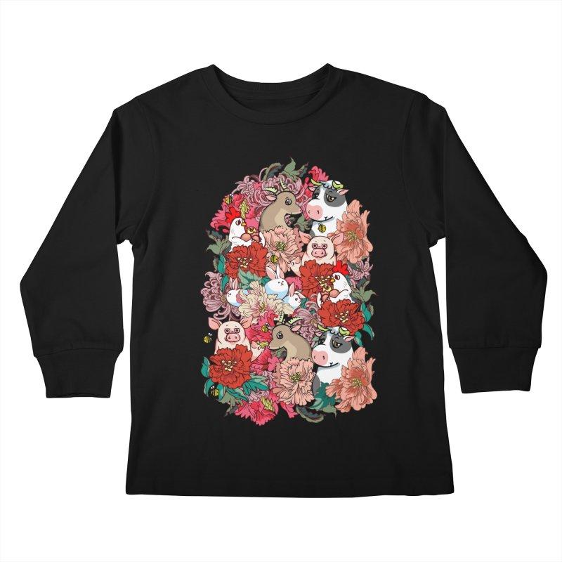 Because Vegan Kids Longsleeve T-Shirt by huebucket's Artist Shop