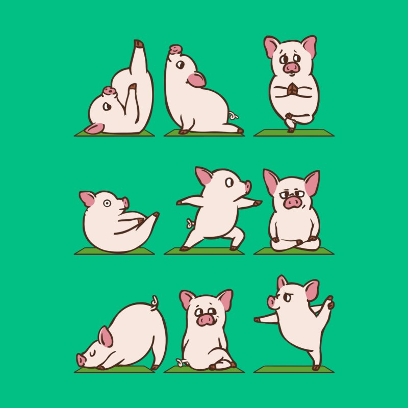 Pig Yoga by huebucket's Artist Shop