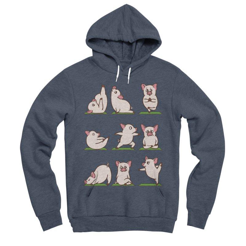 Pig Yoga Women's Sponge Fleece Pullover Hoody by huebucket's Artist Shop