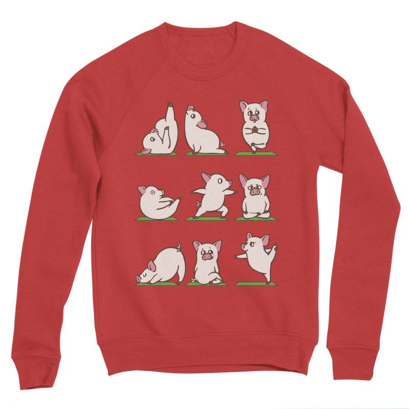 Pig Yoga Men's Sponge Fleece Sweatshirt by huebucket's Artist Shop
