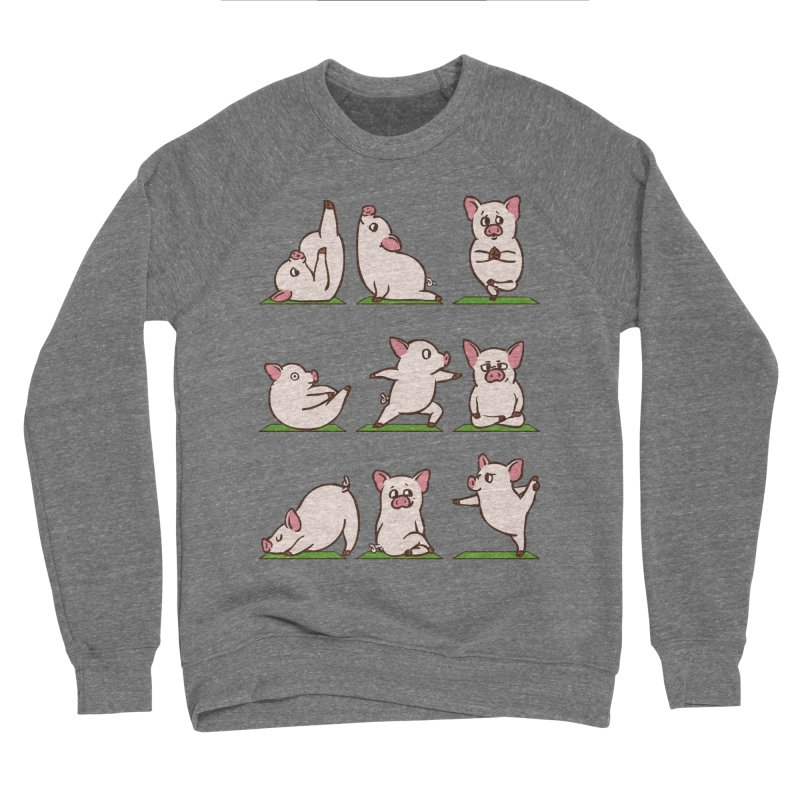 Pig Yoga Women's Sponge Fleece Sweatshirt by huebucket's Artist Shop