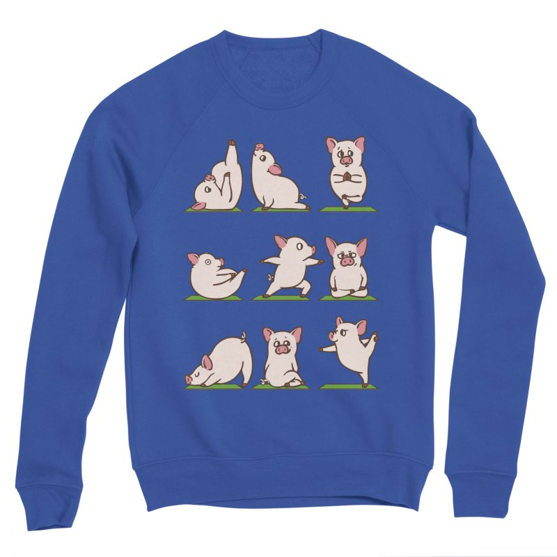 Pig Yoga Women's Sponge Fleece Sweatshirt by huebucket's Artist Shop