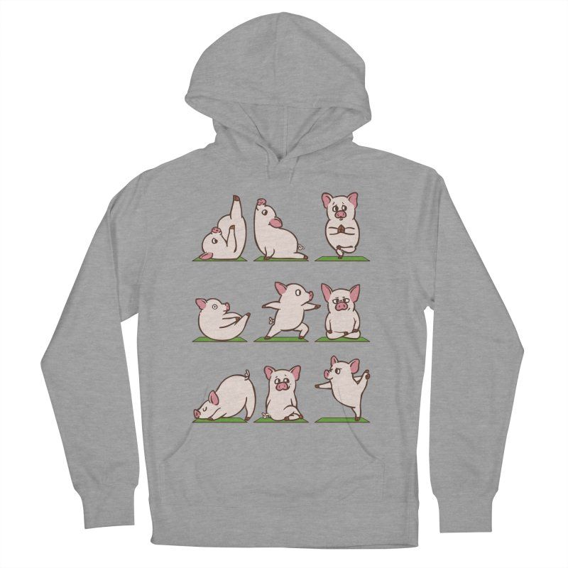 Pig Yoga Women's French Terry Pullover Hoody by huebucket's Artist Shop