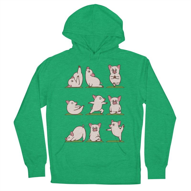 Pig Yoga Men's French Terry Pullover Hoody by huebucket's Artist Shop