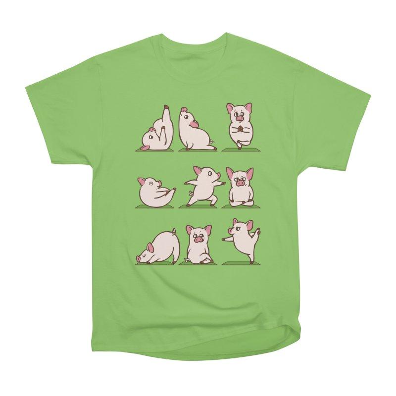 Pig Yoga Women's Heavyweight Unisex T-Shirt by huebucket's Artist Shop