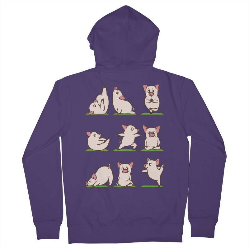 Pig Yoga Women's French Terry Zip-Up Hoody by huebucket's Artist Shop