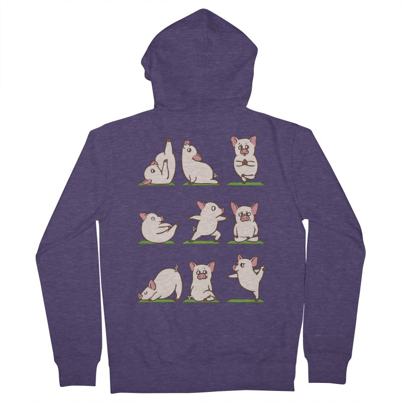 Pig Yoga Men's French Terry Zip-Up Hoody by huebucket's Artist Shop