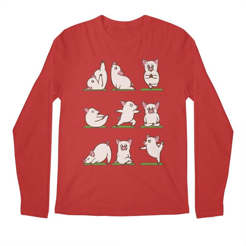 Pig Yoga Men's Regular Longsleeve T-Shirt by huebucket's Artist Shop