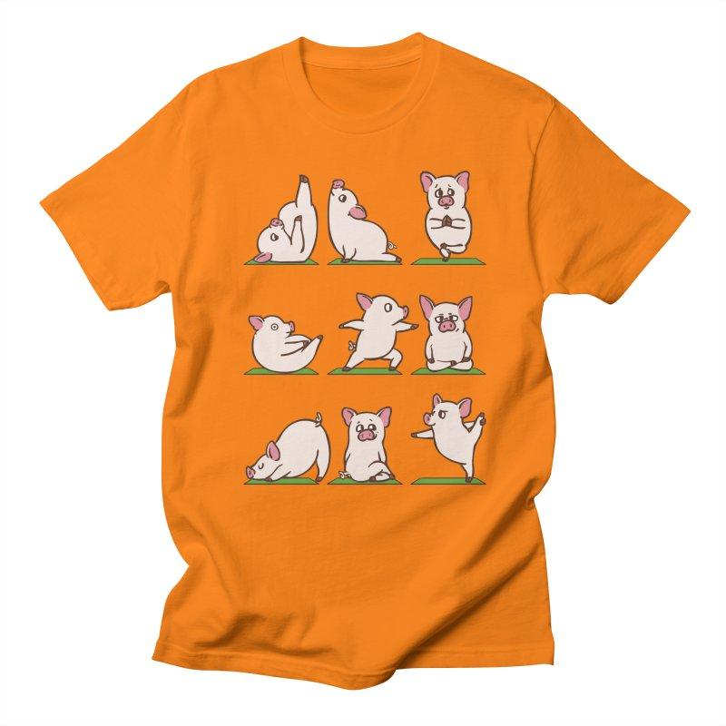 Pig Yoga Women's Regular Unisex T-Shirt by huebucket's Artist Shop