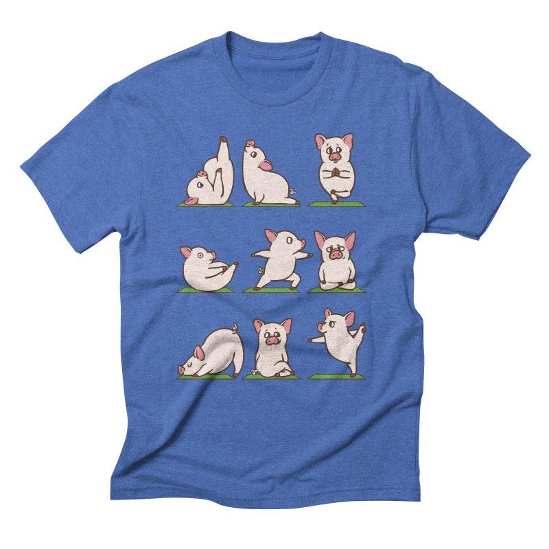 Pig Yoga Men's Triblend T-Shirt by huebucket's Artist Shop
