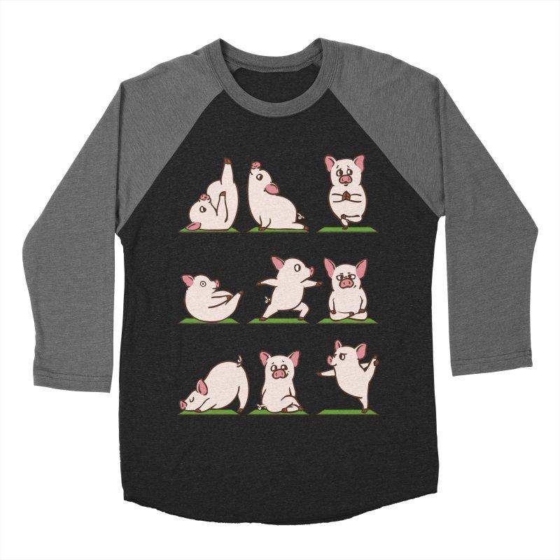 Pig Yoga Women's Baseball Triblend Longsleeve T-Shirt by huebucket's Artist Shop