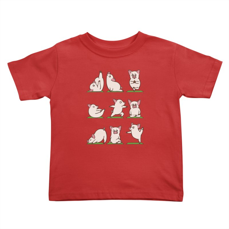 Pig Yoga Kids Toddler T-Shirt by huebucket's Artist Shop
