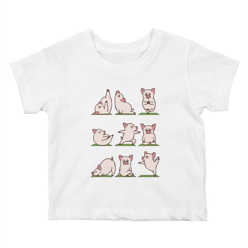Pig Yoga Kids Baby T-Shirt by huebucket's Artist Shop