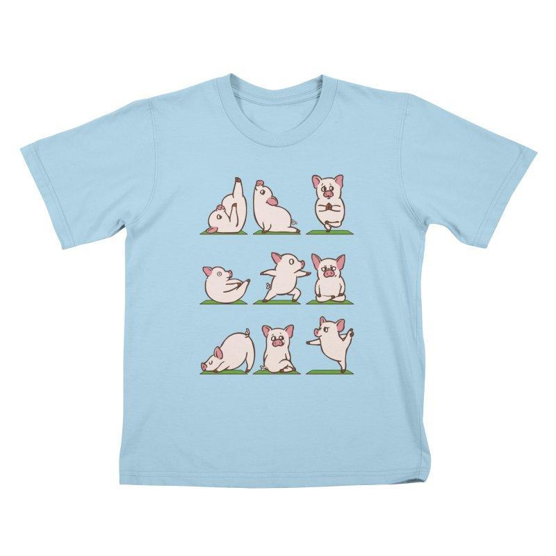 Pig Yoga Kids T-Shirt by huebucket's Artist Shop