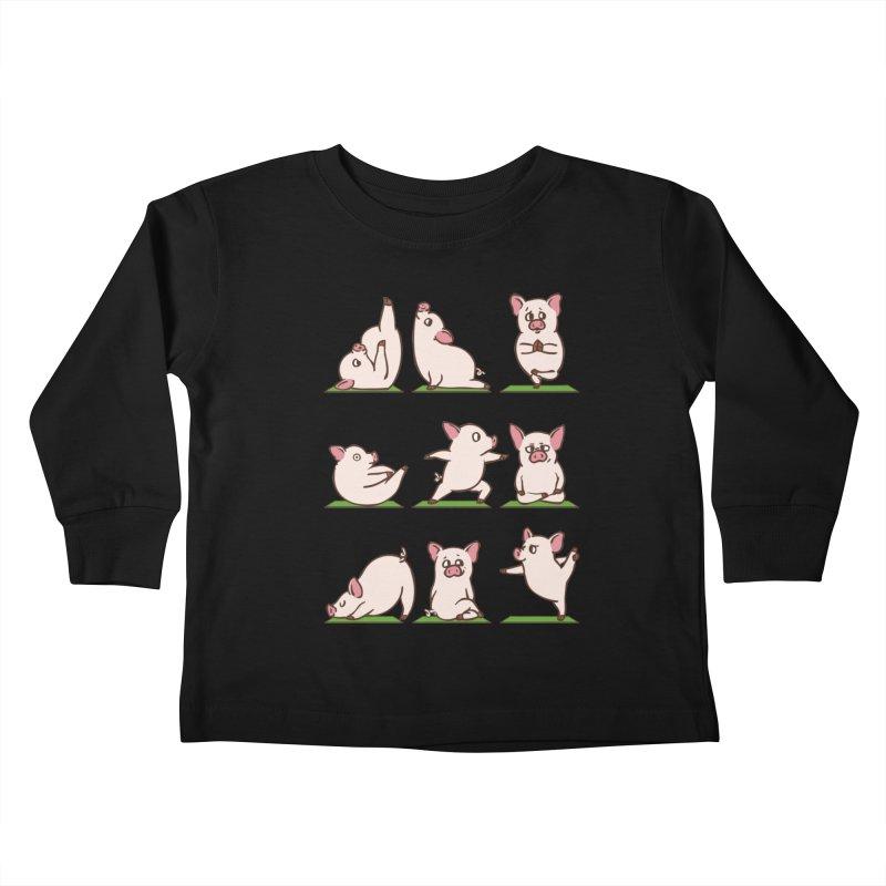 Pig Yoga Kids Toddler Longsleeve T-Shirt by huebucket's Artist Shop