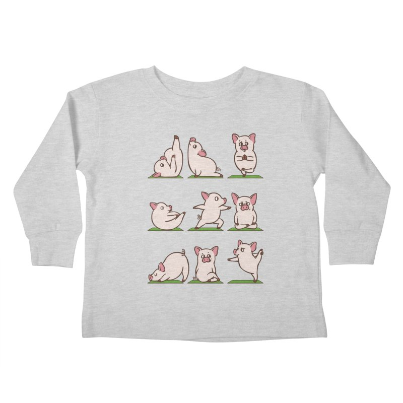 Pig Yoga Kids Toddler Longsleeve T-Shirt by huebucket's Artist Shop