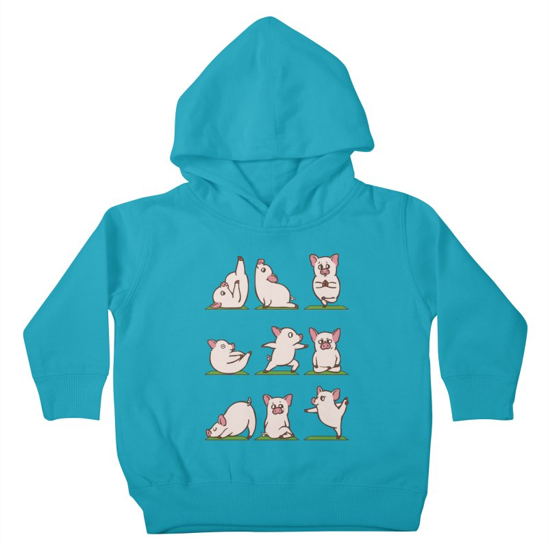 Pig Yoga Kids Toddler Pullover Hoody by huebucket's Artist Shop