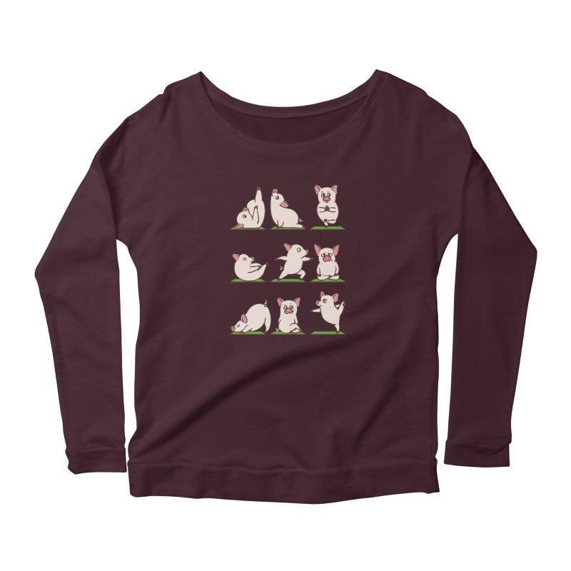 Pig Yoga Women's Longsleeve T-Shirt by huebucket's Artist Shop