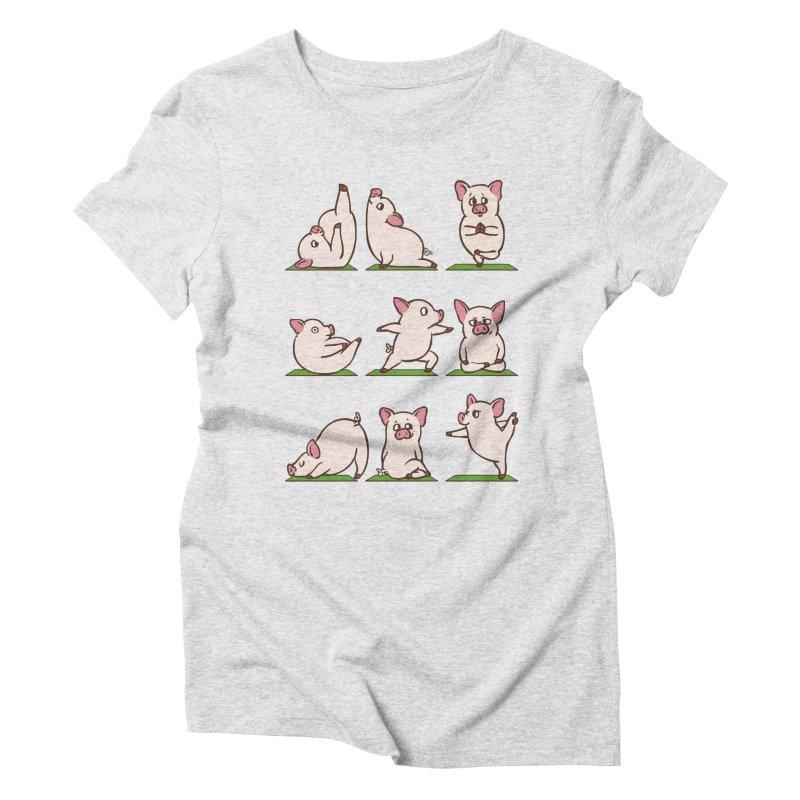 Pig Yoga Women's Triblend T-Shirt by huebucket's Artist Shop