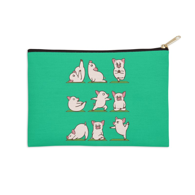 Pig Yoga Accessories Zip Pouch by huebucket's Artist Shop