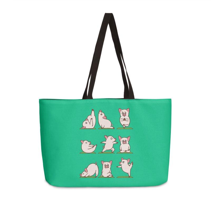 Pig Yoga Accessories Weekender Bag Bag by huebucket's Artist Shop