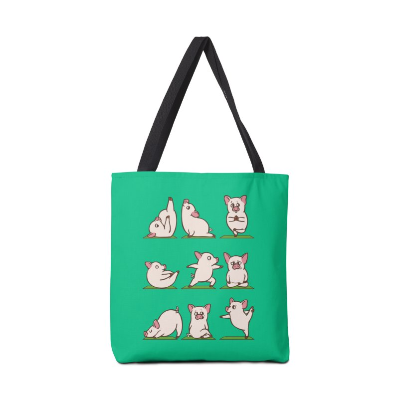 Pig Yoga Accessories Bag by huebucket's Artist Shop