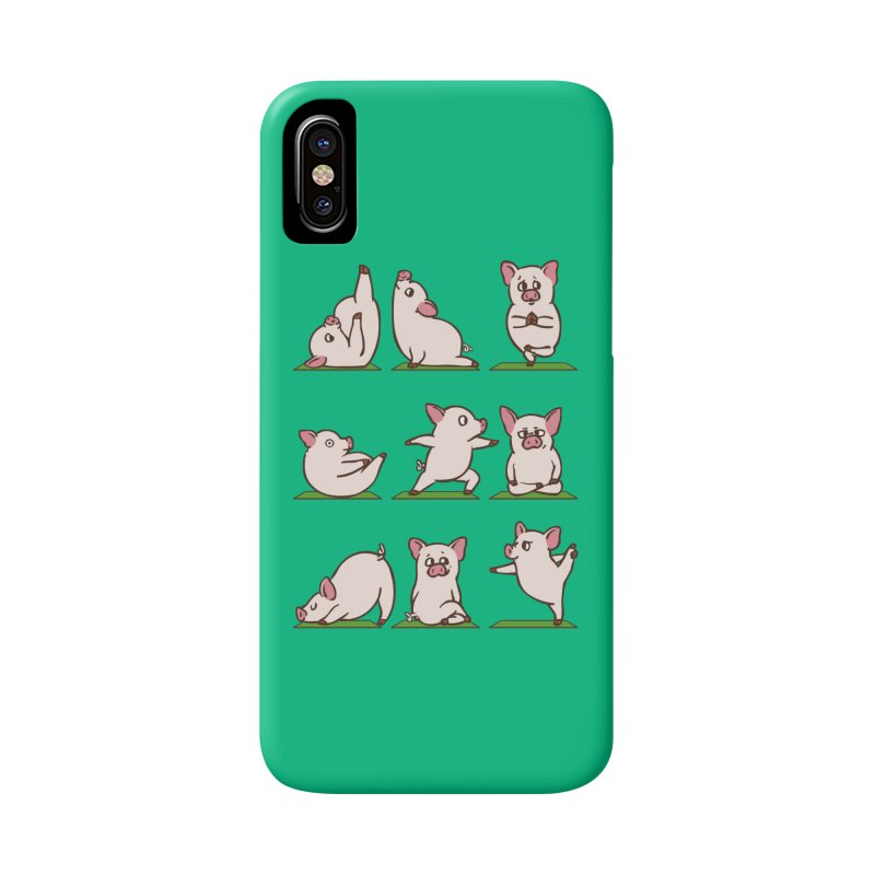 Pig Yoga Accessories Phone Case by huebucket's Artist Shop