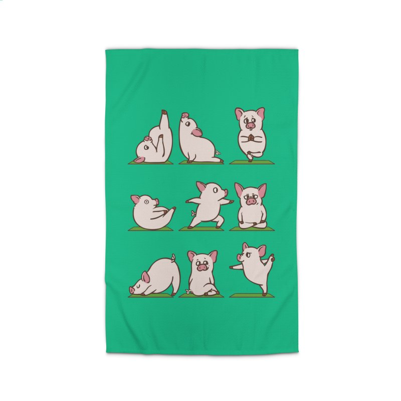 Pig Yoga Home Rug by huebucket's Artist Shop