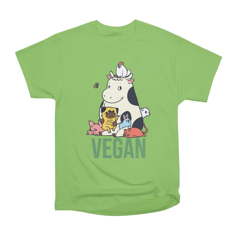 Pug and Friends Vegan Men's Heavyweight T-Shirt by huebucket's Artist Shop