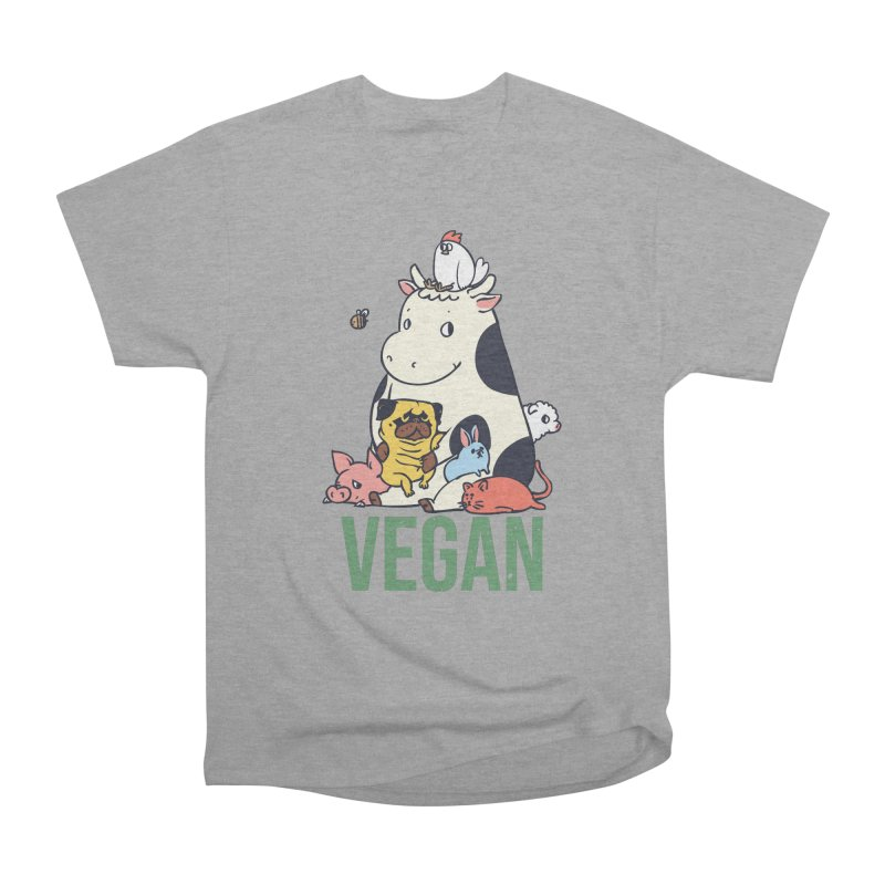 Pug and Friends Vegan Women's Heavyweight Unisex T-Shirt by huebucket's Artist Shop
