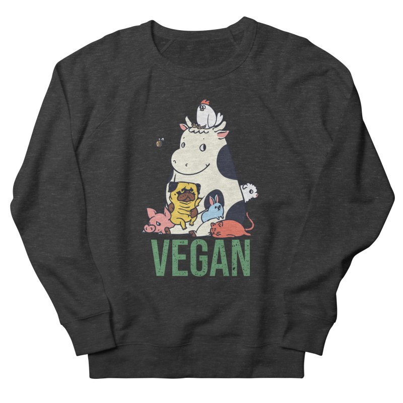 Pug and Friends Vegan Women's French Terry Sweatshirt by huebucket's Artist Shop